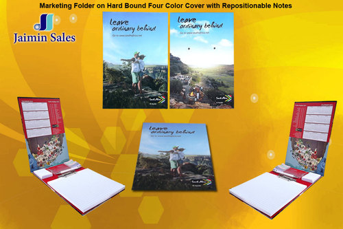 Hard Bound Four Color Cover With Repositionalbe Note Folder