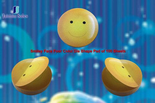 Smiley Face Four Color Die Shape 100 Sheets Pads
