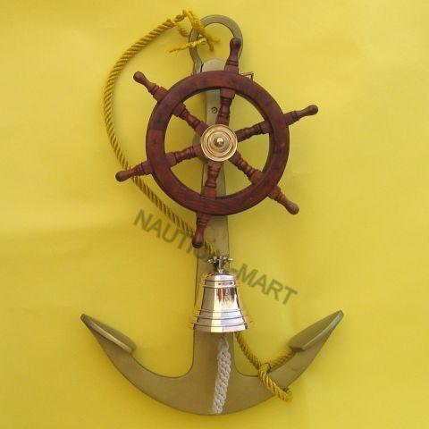 Aluminum Anchor With Ship Wheel Bell