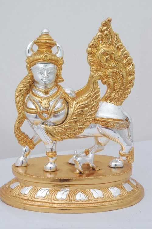 Gold And Silver Coated Kamadhenu Sculpture In Chennai