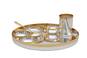 Gold And Silver Plated Dinner Set