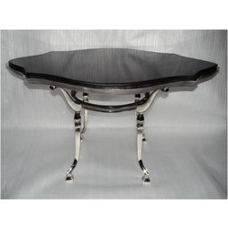 Aluminum Coffee Table With Marble Top