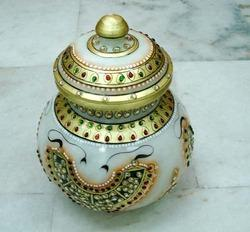 Best Quality Marble Handicraft Pot Kuber Art Craft 28 A Ishwar