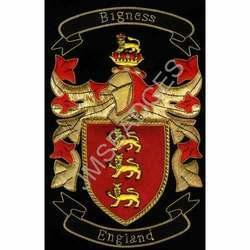 Heraldic Family Crest Banner