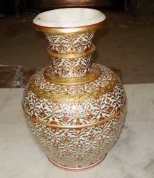 Marble Handicraft Pot In Jaipur Rajasthan Kuber Art Craft