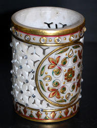 Marble Handicraft Pen Stand In Jaipur Rajasthan Kuber Art Craft