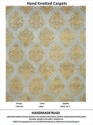 Hand Knotted Silk Wool Pile Rugs