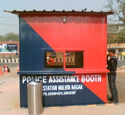 PVC Police Booth