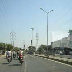 Roadside Poles in  Sarkhej
