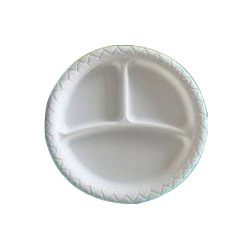 Biodegradable 3 Compartment Plate