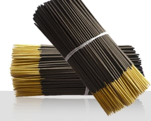 """Black Charcoal Incense Sticks (8"""" And 9"""")"""