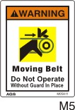 Belt Drive Safety Decal