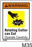 Carbide Tip Safety Decals