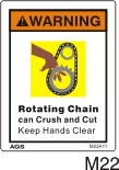 Chain Drive Safety Decals