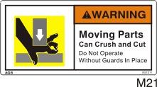 Crush Hazard Safety Decals