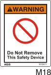 Do Not Remove Safety Decals