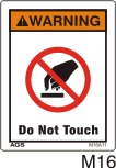 Do Not Touch Safety Decals