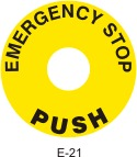 Emergency Stop Safety Decals