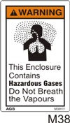Hazardous Vapours Safety Decals
