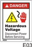 Hazardous Voltage Safety Decals