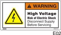 High Voltage Safety Decals