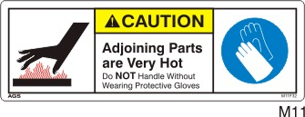 Hot Safety Decals