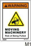 Moving Machinery Safety Decals