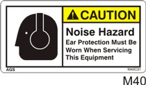 Noise Hazard Safety Decals