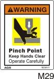 Pinch Point Safety Decals