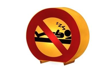 Pub Forbidden No Sleep Table Lamp