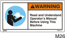 Read Manual Safety Decals