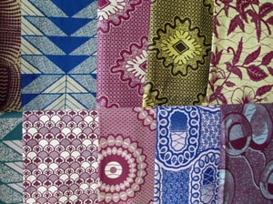 Real Wax Printed Polyester Fabric