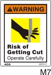 Shearing Blade Safety Decals