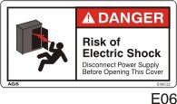 Shock Hazard Safety Decals