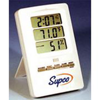Supco Thc120 Indoor Digital Thermo Hygrometer With Clock