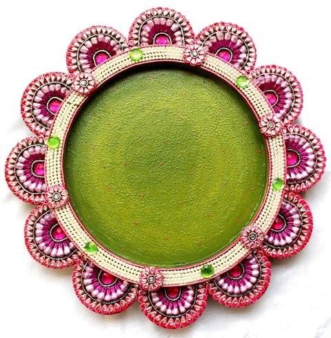 Wooden Handmade Pooja Thali
