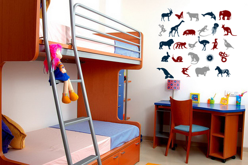 Animal Alphabets Wall Sticker