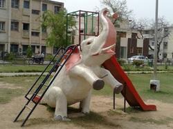 Elephant Slide in  New Area