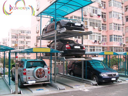 Three Level Pit Stack Car Parking