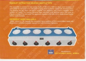 BTI-41 Soxhlet Extraction Heating Mantle Type