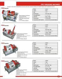 Pipe And Bolt Threading Machines