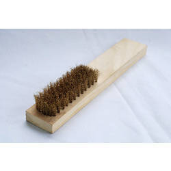Steel Brush With Wooden Handed