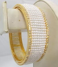 Crafted Pearl Bangles