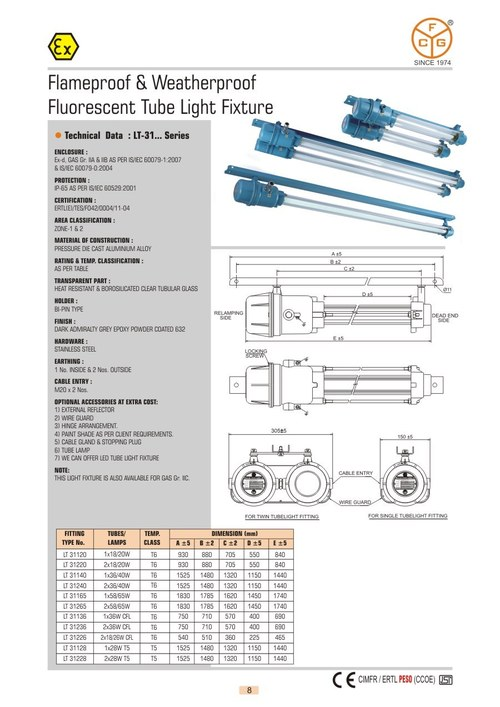 Fluorescent Tube Light Fixture
