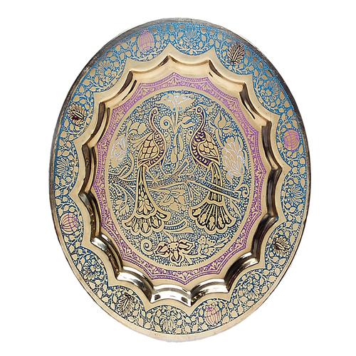 Brass Wall Decor Plates (Curvy Medium)