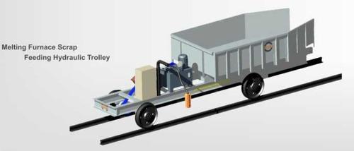 Melting Furnace Scrap Feeding Hydraulic Trolley