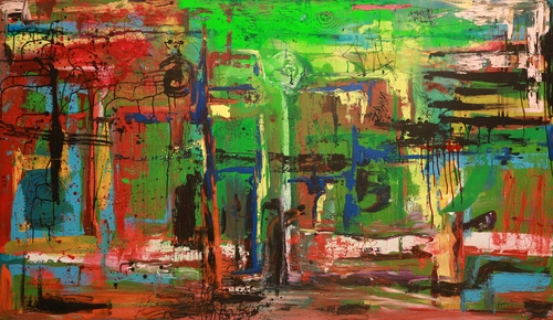 Large Abstract Mixed Painting  in  19-Sector - Dwarka