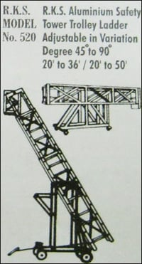 Aluminum Safety Tower Trolley Ladder (Model No 520)
