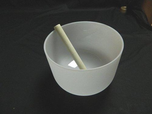 Frosted Crystal Singing Bowl Set
