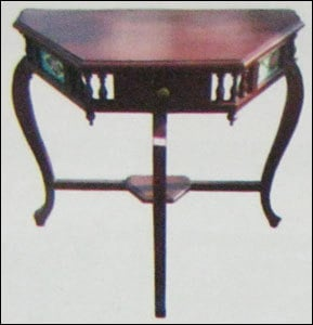 Teak Wood Console With Rosewood Stain